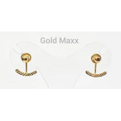 Złote kolczyki z oryginalnym zapęciem