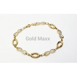 Złota bransoletka nieskończoność z greckim wzorem