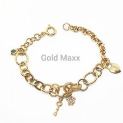 Fantazyjna złota  bransoletka