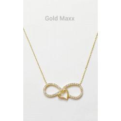 Złoty naszyjnik - Celebrytka romantyczna