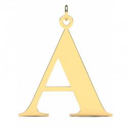 Złoty wisiorek w kształcie literki A