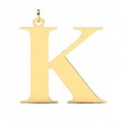 Złoty wisiorek w kształcie literki K