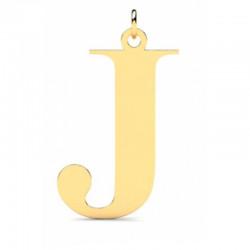 Złoty wisiorek w kształcie literki J
