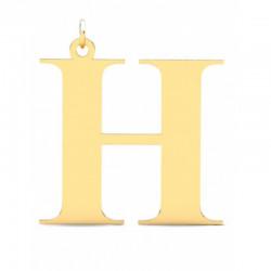 Złoty wisiorek w kształcie literki H