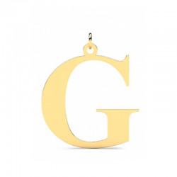 Złoty wisiorek w kształcie literki G