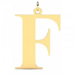 Złoty wisiorek w kształcie literki F