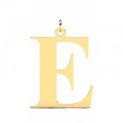 Złoty wisiorek w kształcie literki E