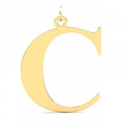 Złoty wisiorek w kształcie literki C