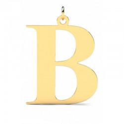 Złoty wisiorek w kształcie literki B