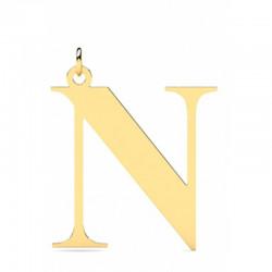 Złoty wisiorek w kształcie literki N