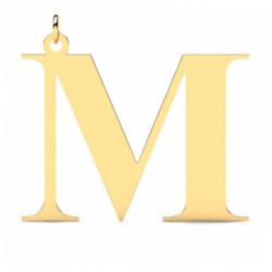 Złoty wisiorek w kształcie literki M